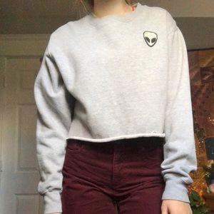 Alien Sweatshirt Cropped